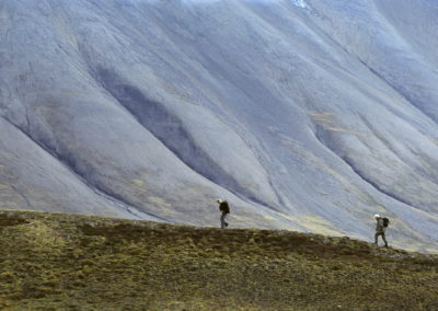 Hiking the tundra of Svalbard